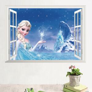 """Removable Wall Sticker home decor AU Stock """"Frozen, Princess Elsa 3D"""""""