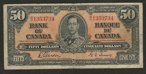 1937 CANADA 50 DOLLAR NOTE