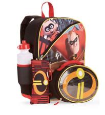 Disney Incredibles 5 PC Backpack w/ Lunch Bag Incredibles2 School Tote Set
