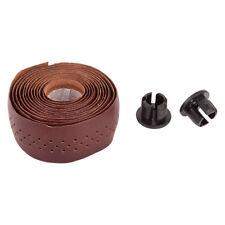 Origin-8 Classique Sport Leather Tape Tape & Plugs Sport Dk-brn W/resin Plugs