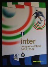 "2007  Italia  Folder  "" INTER  Campione D'Italia 2006-2007  ""   MNh**"