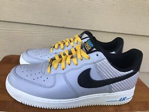 Nike Air Force 1 Low 488298-014 Men's Running Shoes Wolf Grey Black Size 10