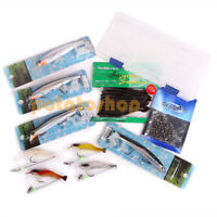 Inshore Saltwater Surf Fishing Tackle Box Plugs Minnow Soft Plastic Lures