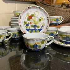 "Faenza Italy Garofano 2 1/4"" Cup and Saucer CACF for Cottura MINT - 12 Avail."