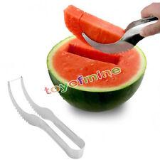 Stainless Steel Melon Slicer Cutter Corer Server Splitter Watermelon Cantaloupe
