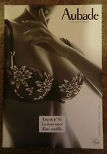 AUBADE Cardboard Stand POS Advertising Sexy Lingerie Nude, Lesson Leçon nº 51