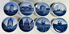 "Set of 8 Vintage Royal Copenhagen Mini 3"" Delft Porcelain Plates Denmark Danish"