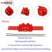 RED Motorcycle Dirt Bike Exhaust Muffler Pipe Shield Cover Protector For HONDA
