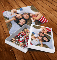 Personalised Jigsaw Puzzle with Customised Box - Kids Family Photo Gift Idea