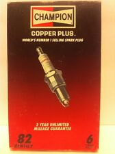 Champion RFN14LY box of 6 Spark Plugs Stock No. 82 New Old Stock