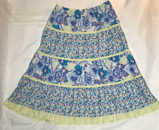 Hanna Andersson Girls Boho Floral Skirt Size 120 US 6/7 in EC!! Free Shipping