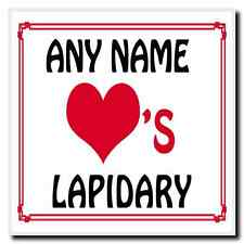 Love Heart Lapidary Personalised Coaster