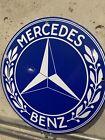 Mercedes Benz Vintage Style Service  Advertising Porcelain Gas Sign