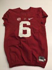 Game Worn Used 2016 Alabama Crimson Tide Bama Football Jersey Nike Size 40 #6