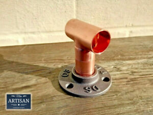 22mm Copper Straight Tee Floor / Wall Flange Pipe Mount Fits 22mm Copper Pipe