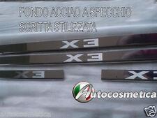 set 4 battitacchi batticalcagno in acciaio inox cromo/satinato BMW X3 2003-2010