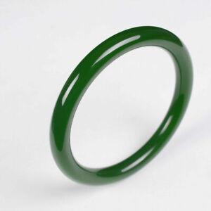 Round jade Bangles Natural Jade green jasper jade Bangles Hetian jade 56---64mm