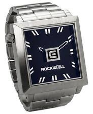NEW IN BOX MENS Rockwell 50mm2 Wrist Watch SILVER BLACK FS-102 LIMITED RELEASE