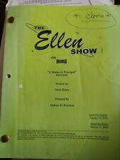 Cloris Leachman ORIGINAL Script ELLEN SHOW w/her? HandWriting working screenplay