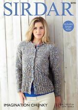 a2a148ed9389 Sirdar 8090 Knitting Pattern Womens Cardigan in Sirdar Imagination Chunky