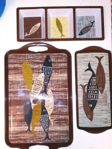 Fantastic NEW Durable Acrylic River Fish Design 3-Piece Serving Set for BBQs