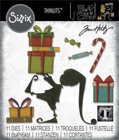 Sizzix Tim Holtz Thinlits Die Santa's Helper 11 dies 664192