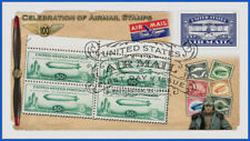 Airmail History (5281) 2018 - Baby Zep Block - First Day Cover #504