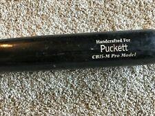 CODY PUCKETT GAME USED MARUCCI MODEL WOOD BAT CINCINNATI REDS MINORS CRACKED