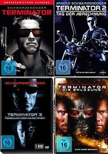TERMINATOR 1 2 3 4 Uncut SCHWARZENEGGER DVD Collezione
