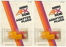 2 1976 Aurora AFX Racing HO Slot Car Track CONTROLLER ADAPTER PLUGS 2552 Carded