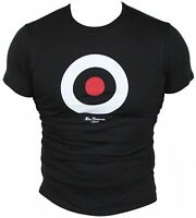 New Ben Sherman Mens T-Shirt in Black Colour Round Neck Size XS