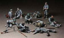 1:35 German Infantry soldiers at Rest (WWII), Resin Model Kit, 10 Figures