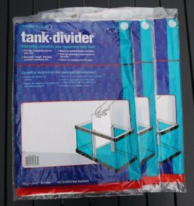 "3 Penn-Plax Tank Dividers Ex. large 11 3/8"" x 15.5"" Fits 20 Gallon Free Shipping"