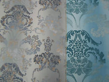 Designers Guild Fabric  'KASHGAR' 3.9 METRES (390cm) Zinc 100% Cotton Astrakhan