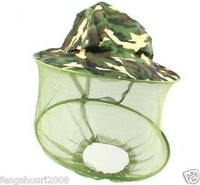 Summer Jungle Hat Mosquito Bee Bug Insect Mesh Head Face Protect Hat Net #0123