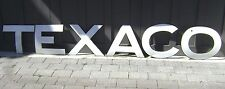 """'41 TEXACO 16"""" letters SIGN --- 1941 curved porcelain Tanker Truck sign --- RARE"""