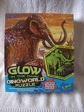 New 200 Piece Mammoth Ice Age Dinoworld Glow In The Dark Puzzle
