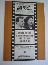Spartiti Musica Lelouch Un Uomo Una Donna Colonna Sonora Pagani 1966 Barouh