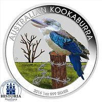 Australien 1 Dollar Silber 2016 Stgl Silbermünze Kookaburra in Farbe