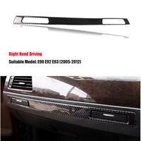 RHD Carbon Fiber Water Cup Holder Frame Cover Trim for BMW 3 Series E90 E92 E93
