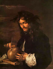 Oil painting martinus rorbye - Male portrait 自画像 - self portrait free shipping