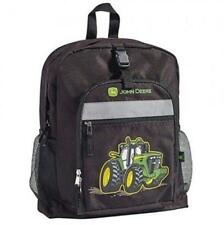 NEW KIDS JOHN DEERE TRACTOR BLACK BACKPACK BOOK BAG SCHOOL BAG LP53773