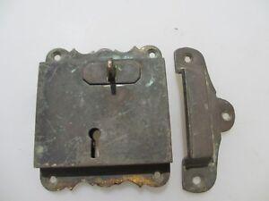 "Georgian Brass Door Lock Keep Antique Victorian Old Sri Lanka Colonial ""Galle"""