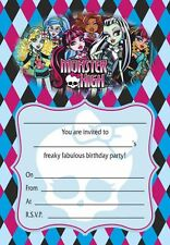 Monster High Birthday Child Cards Invitations For Celebrations