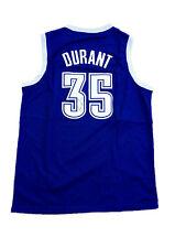 "Kevin Durant Signed Oklahoma City Thunder "" Alternate Blue ""  Jersey JSA"