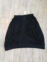 NWT $164 Noblu Black Ankle Length Style B Off Elastic Waist Sz XXL with Pockets