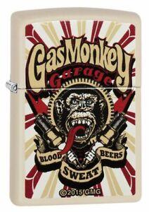 Zippo Lighter Gas Monkey Garage Cream Matte Official Licensed Sealed