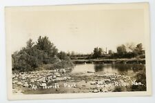 A tourist park Swan River Manitoba .   RPPC real photo Postcard