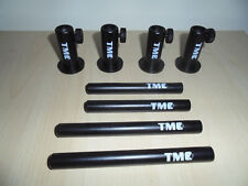 "4 x TMC Anodized Aluminium Stage stands, with 2 x 4"" inserts and 2 x 5"" inserts"