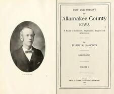 1912 ALLAMAKEE County Iowa IA, History and Genealogy Ancestry Family DVD B38